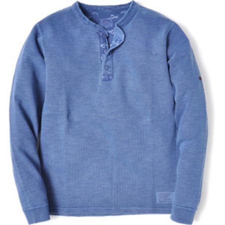 スマートスパイス メンズ スラブヘンリーネックTシャツ ORION BLUE
