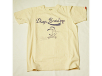スマートスパイス DOG BORDING PRINT T-SHIRTS STRAW